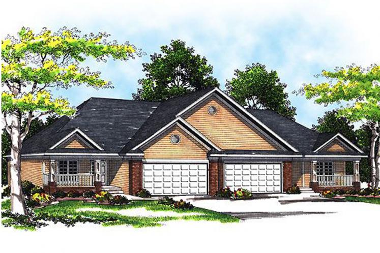 Traditional Multi-family Plan -  78784 - Front Exterior