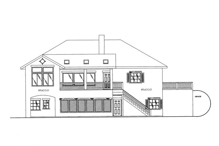 Southwest House Plan -  78900 - Rear Exterior