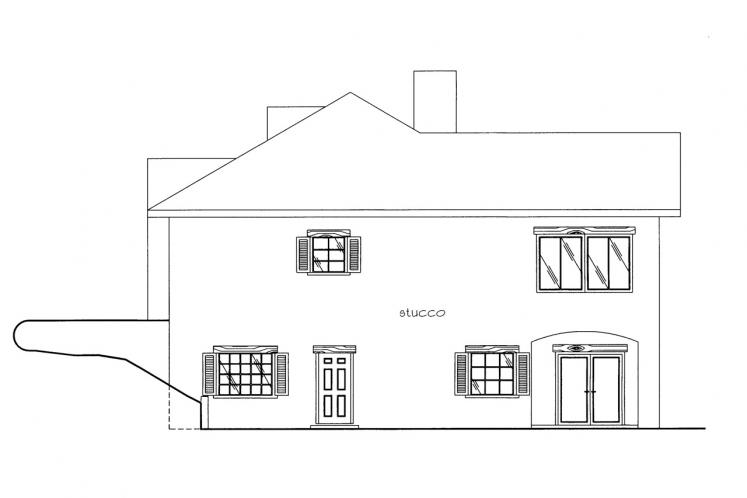 Spanish House Plan -  78900 - Right Exterior