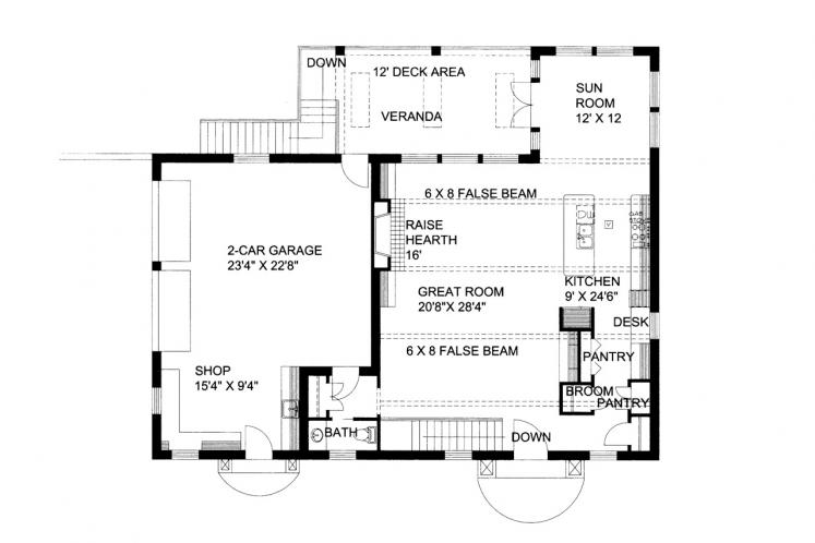 Southwest House Plan -  78900 - 1st Floor Plan