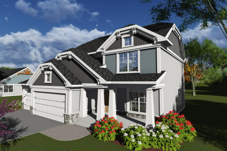 Craftsman House Plan -  78934 - Front Exterior