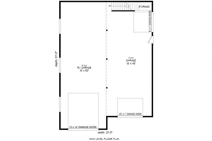 Traditional Garage Plan -  78983 - 1st Floor Plan