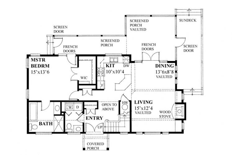 Cottage House Plan -  79217 - 1st Floor Plan
