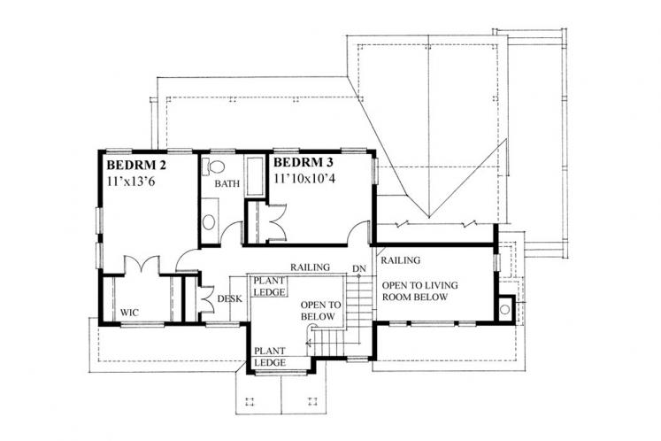 Country House Plan -  79217 - 2nd Floor Plan