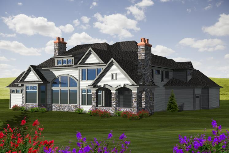 Classic House Plan -  79371 - Rear Exterior