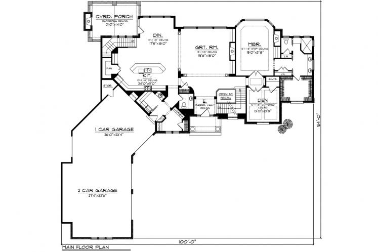 Country House Plan -  79371 - 1st Floor Plan