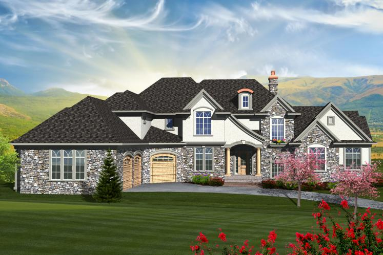 European House Plan -  79371 - Front Exterior