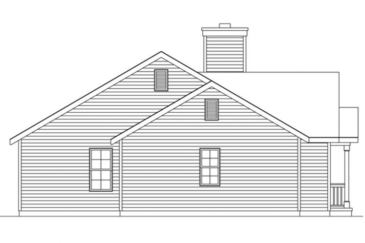 Traditional House Plan -  79415 - Left Exterior