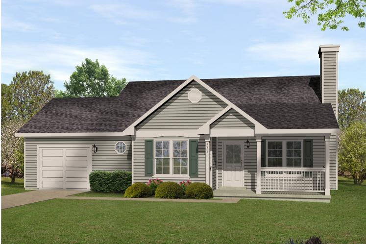 Ranch House Plan -  79415 - Front Exterior