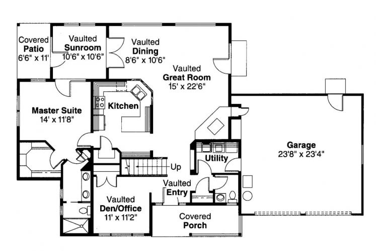 Ranch House Plan - Amsbury 79420 - 1st Floor Plan