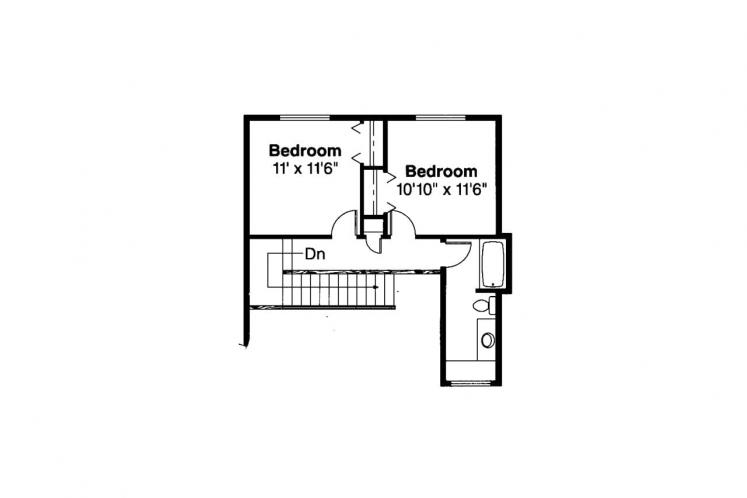 Traditional House Plan - Amsbury 79420 - 2nd Floor Plan