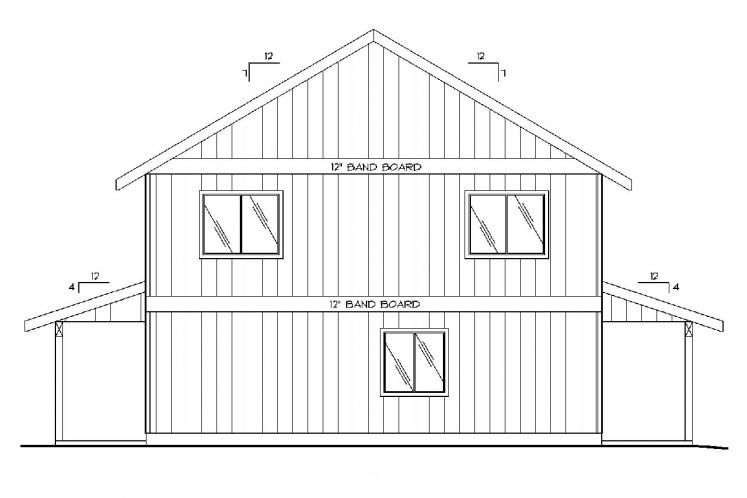 Lodge Style Garage Plan -  79444 - Rear Exterior