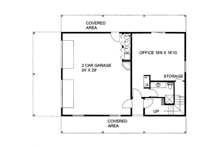 Country Garage Plan -  79444 - 2nd Floor Plan