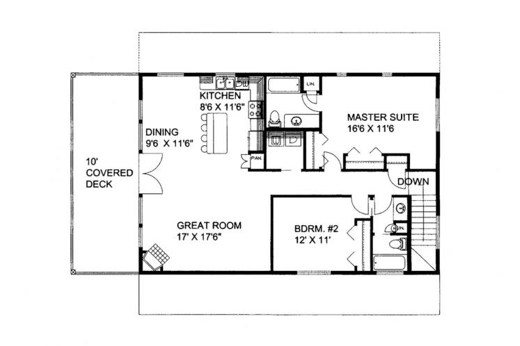 Lodge Style Garage Plan -  79444 - 1st Floor Plan