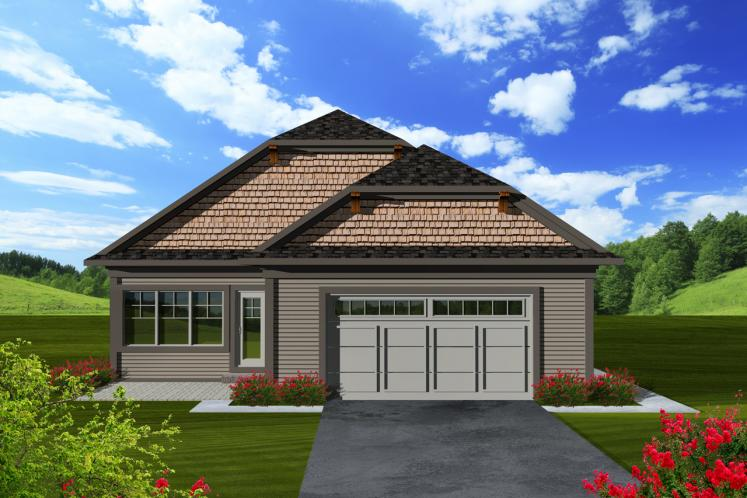 Cottage House Plan -  79445 - Rear Exterior