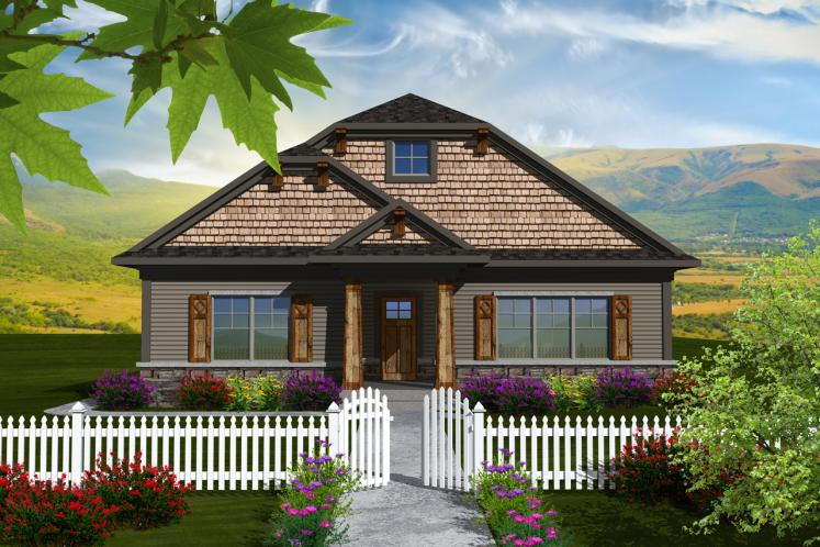 Craftsman House Plan -  79445 - Front Exterior