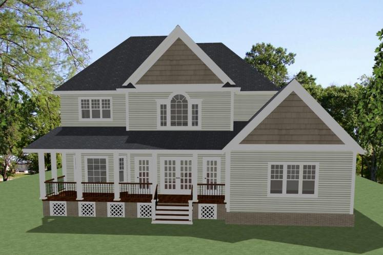Country House Plan - Glenwood 79454 - Rear Exterior