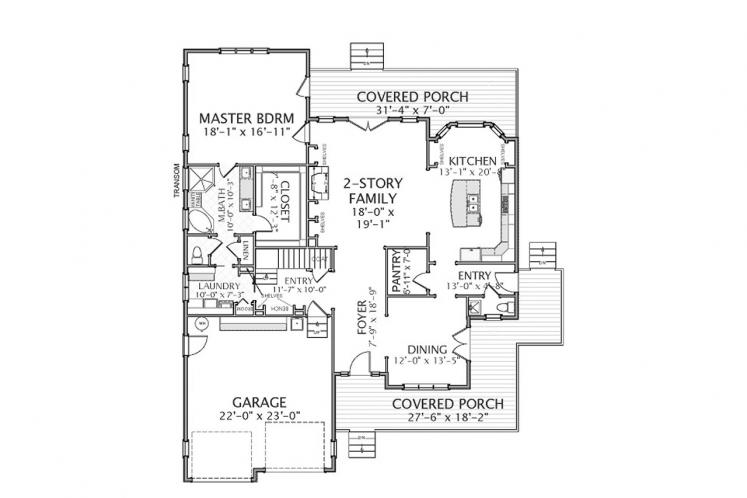 Farmhouse House Plan - Glenwood 79454 - 1st Floor Plan