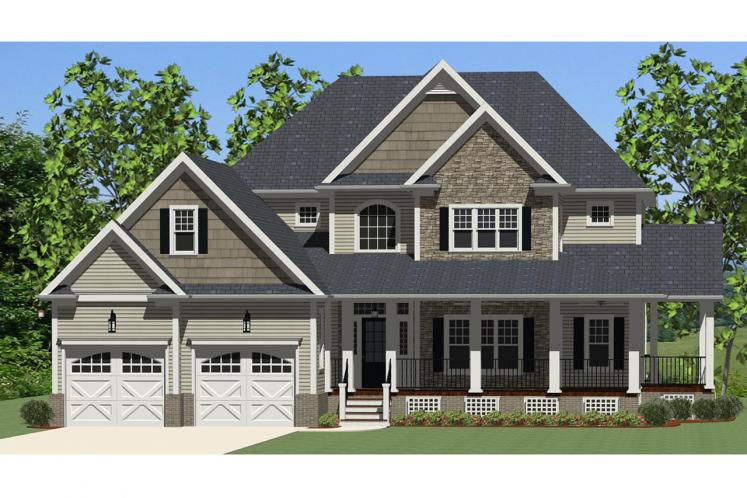 Farmhouse House Plan - Glenwood 79454 - Front Exterior