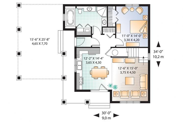 Country House Plan - Celeste 2 79481 - 1st Floor Plan