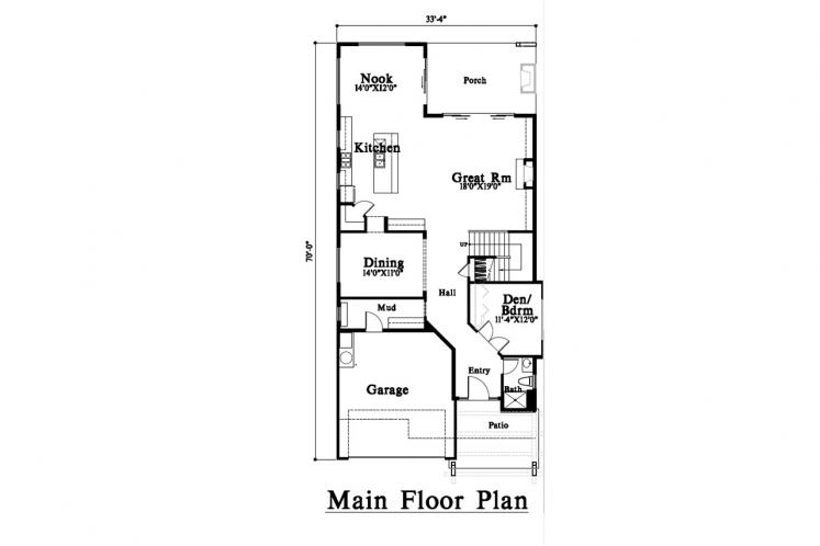 Modern House Plan -  79523 - 1st Floor Plan