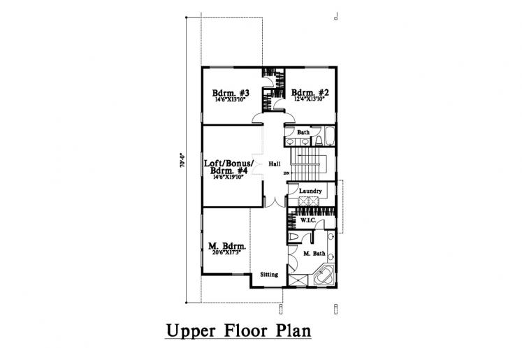 Contemporary House Plan -  79523 - 2nd Floor Plan