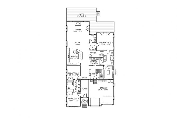 Traditional House Plan - Middleton 79524 - 1st Floor Plan