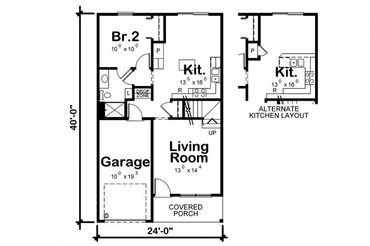Country House Plan - Kershaw 79535 - 1st Floor Plan