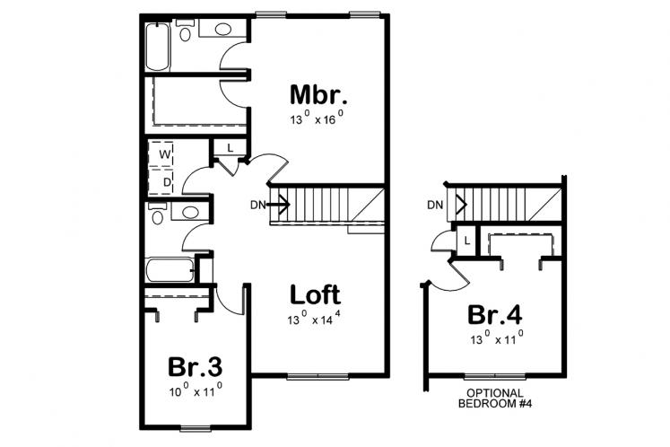 Cottage House Plan - Kershaw 79535 - 2nd Floor Plan