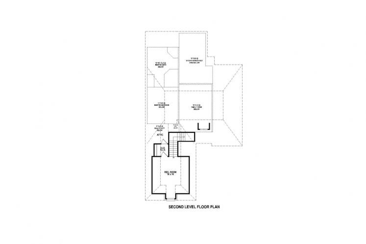 Traditional House Plan -  79570 - 2nd Floor Plan