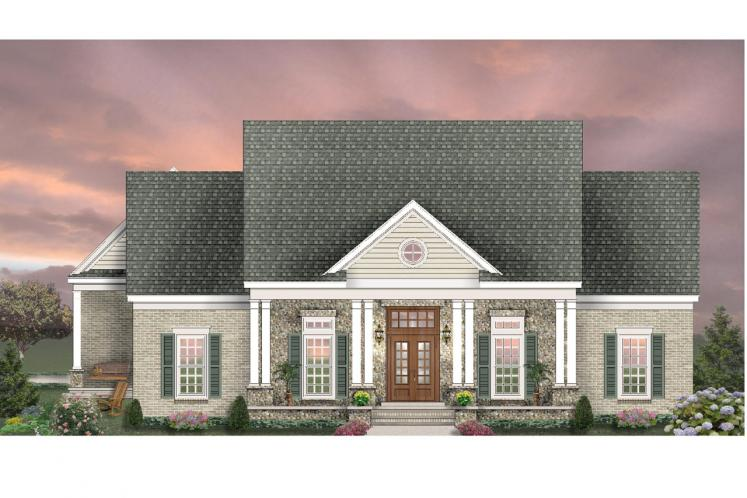 Colonial House Plan -  79592 - Front Exterior