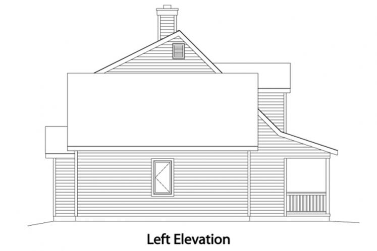 Country House Plan -  79684 - Left Exterior