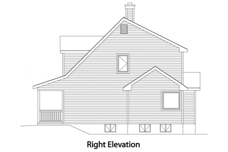 Farmhouse House Plan -  79684 - Right Exterior