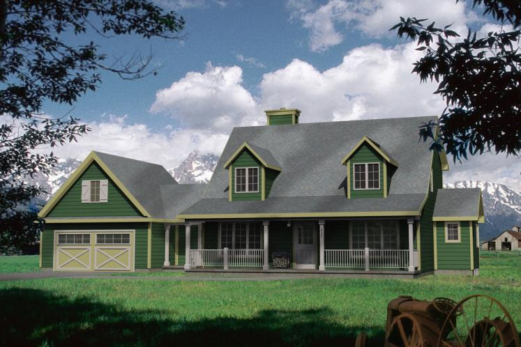 Country House Plan -  79684 - Front Exterior