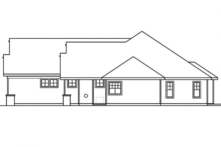 Craftsman House Plan - Palmer 79708 - Right Exterior