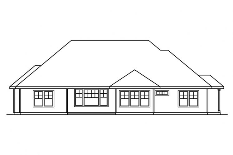 Ranch House Plan - Palmer 79708 - Rear Exterior
