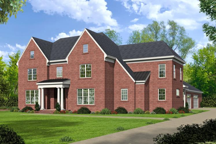 Colonial House Plan - Chapel Woods 79721 - Front Exterior