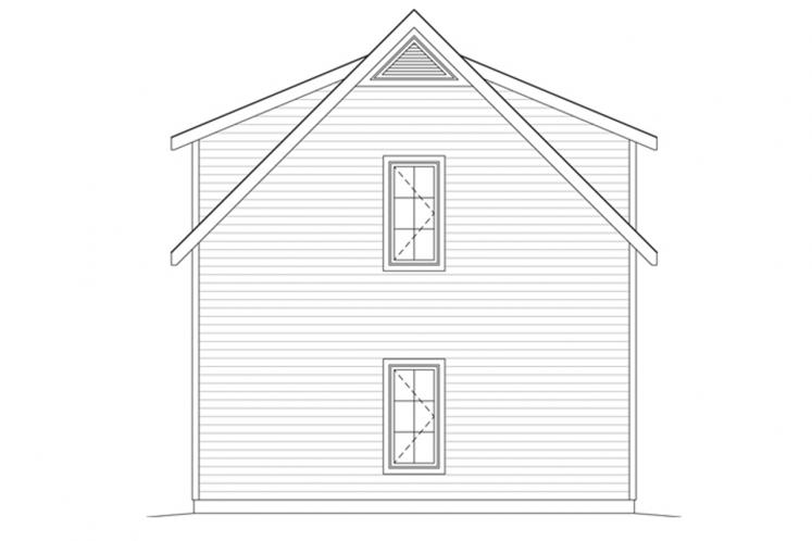 Traditional Garage Plan -  79753 - Right Exterior
