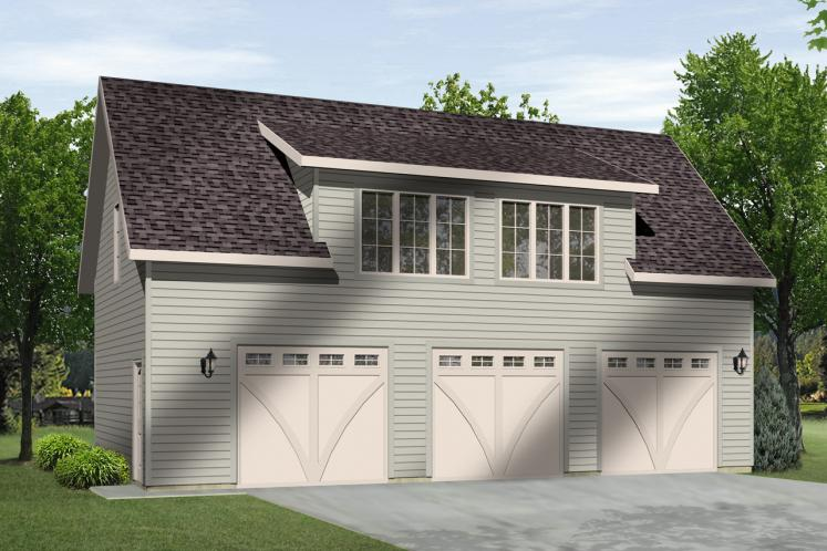 Country Garage Plan -  79753 - Front Exterior