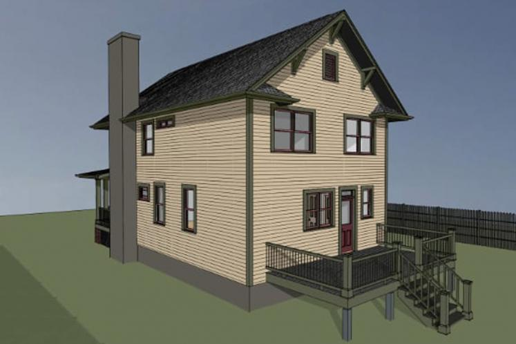 Traditional House Plan -  79797 - Right Exterior