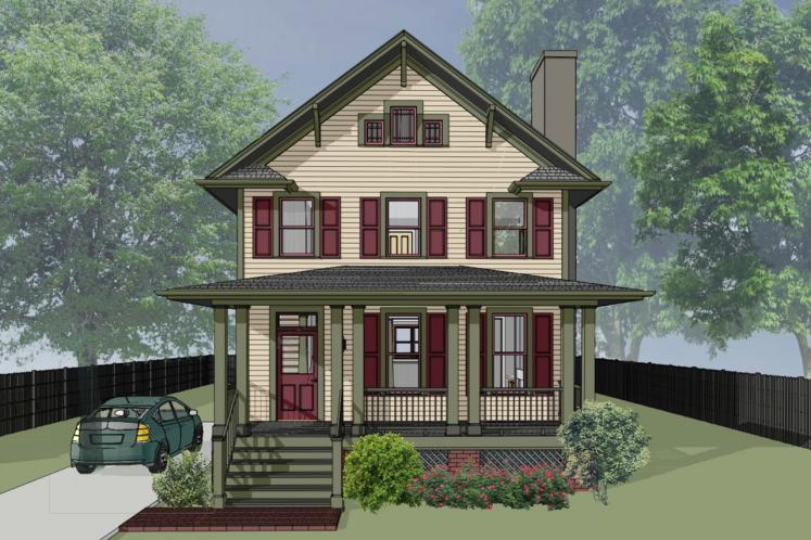 Country House Plan -  79797 - Front Exterior