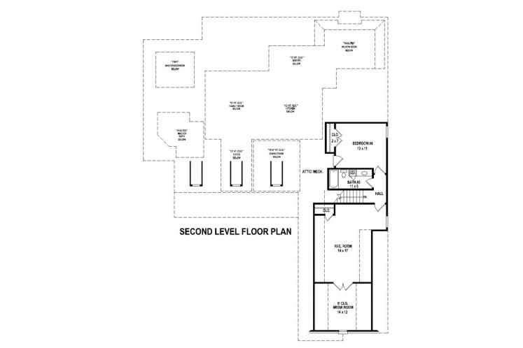 Country House Plan -  79805 - 2nd Floor Plan