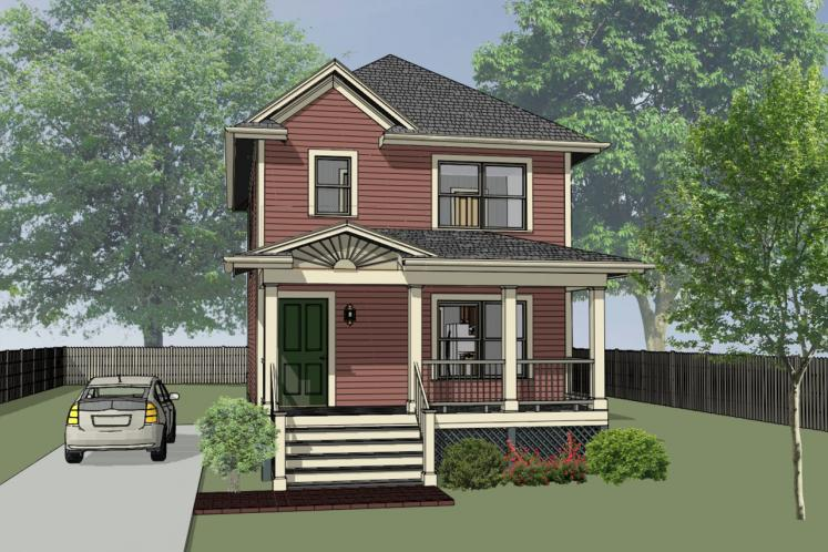 Craftsman House Plan -  79811 - Front Exterior