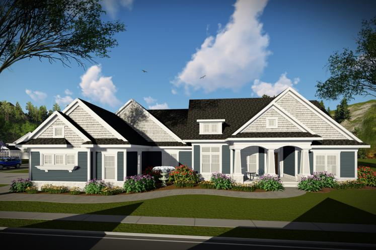Craftsman House Plan -  79894 - Front Exterior