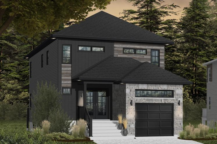 Contemporary House Plan - Stanton 2 79979 - Front Exterior