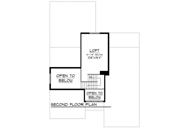 Ranch House Plan -  79990 - 2nd Floor Plan