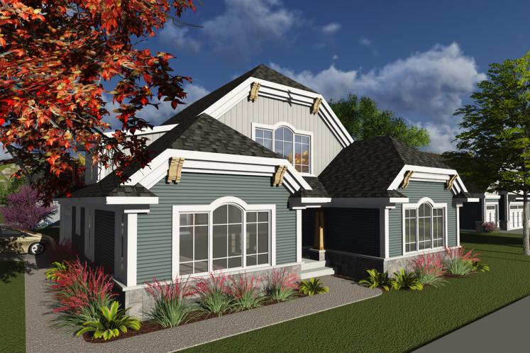 Craftsman House Plan -  79990 - Front Exterior