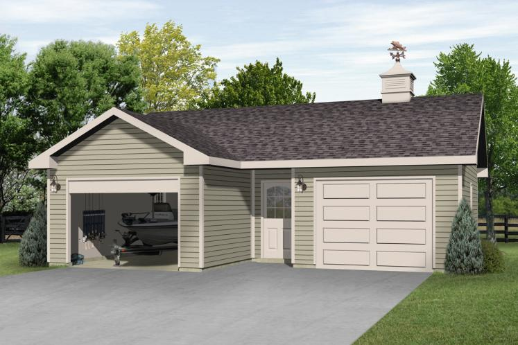 Traditional Garage Plan -  80019 - Front Exterior