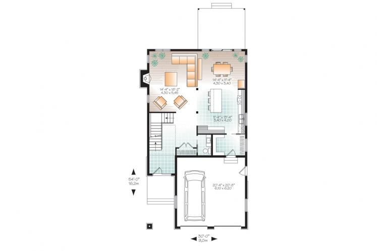 Prairie House Plan - Oak Lane 2 80026 - 1st Floor Plan