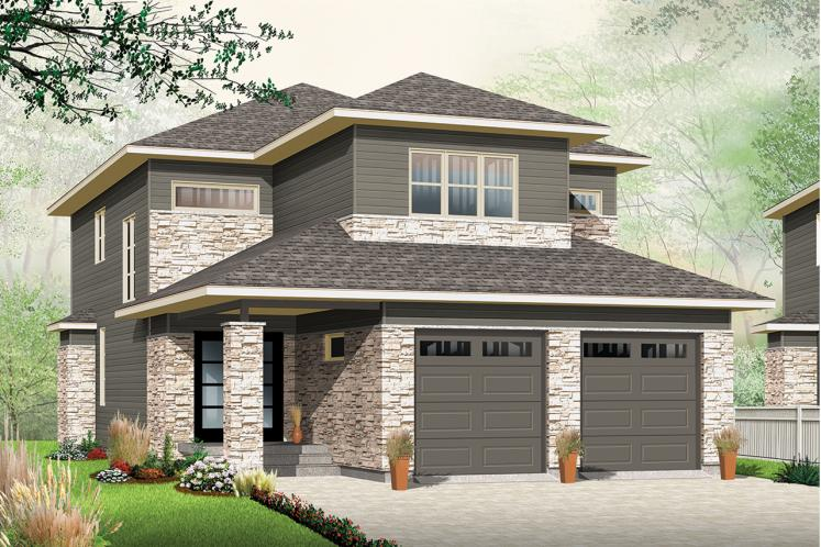 Modern House Plan - Oak Lane 2 80026 - Front Exterior